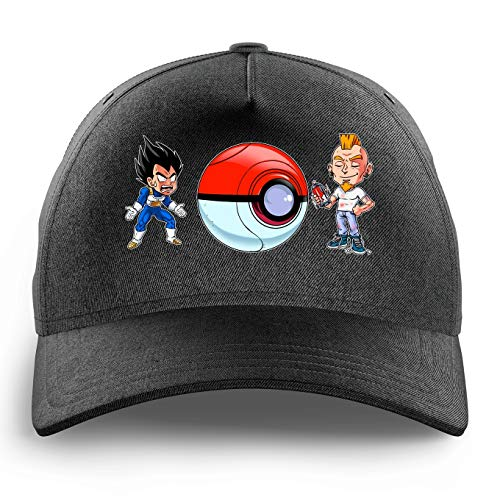 OKIWOKI Grappige Draak Bal Z - Pokémon Zwarte Kid Cap - Vegeta (Dragon Ball Z - Pokémon Parody) (Ref:1097)