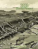 2020 Weekly Planner: Peak's Island, Maine (1886): Vintage Panoramic Map Cover