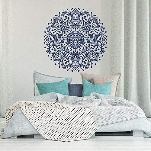 Adesivo da parete mandala Adesivo da parete rimovibile in vinile Adesivo da studio di yoga marocchino Adesivo di sfondo stile boho 57x57cm