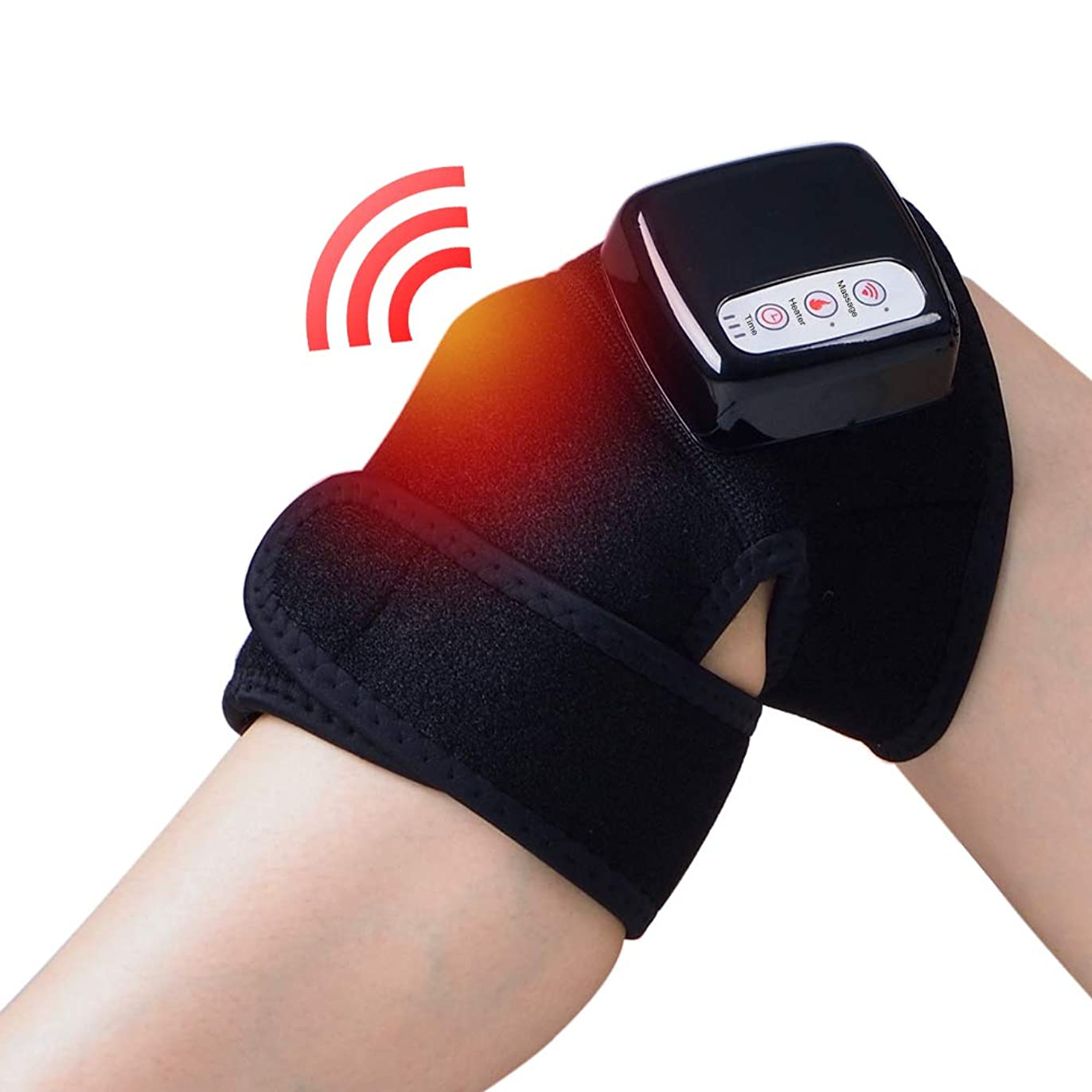 お祝い導入する余裕があるChuangyue 膝関節加熱マッサージ マッサージ器 フットマッサージャー ひざ マッサージャー 振動 赤外線療法 温熱療法 膝サポーター ストレス解消 膝マット 太もも/腕対応