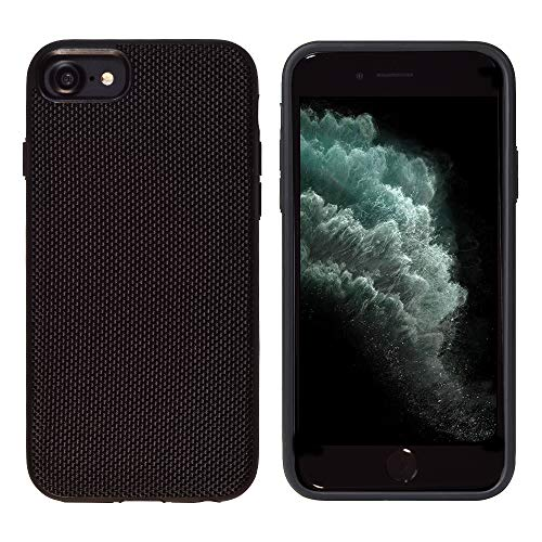 Glasfaser Extrem Schutzhülle von iShield Hülle für iPhone 8/7/6S/6 MODERNES Design UND ULTIMATIVER Schutz (Schwarz)