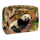 Kit de Maquillaje Neceser Panda Animal Lindo Make Up Bolso de Cosméticos Portable Organizador Maletín para Maquillaje Maleta de Makeup Profesional 18.5x7.5x13cm