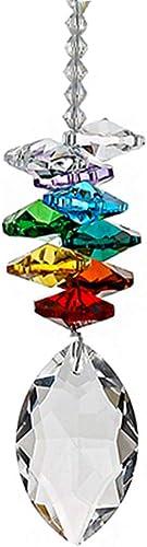 Crystal Ball Prism Rainbow Sun Catcher Octogon Chakra Hanging Suncatcher Window Hanging Crystals Ball Prisms Suncatcher Crystals Rainbow Maker with Colors Crystal Pendants Home Decor
