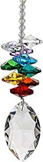 NszzJixo9 Crystal Ball Pendant - Accessories Colorful Octagonal Octagonal Hanging Drop, Car Pendant Crystal Chandelier Pendants Parts Glass Beads (B)