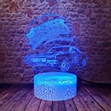 General lee Car Model The Dukes of Hazzard 3D Illusion LED Lamp Colourful Night Light Bedroom Décor