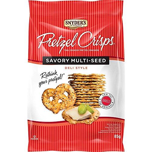 Snyder's of Hanover Pretzel Crisps Multi Seed 85 g - Brezel Crisps mit Sesam, Salz und Mohn