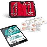 Kit de Sutura Cirugía Menor | Curso Online de Sutura Completo en Español - 10 Clases Prácticas y 15 Teóricas | Díptico con las principales suturas y técnicas de anudado | Kit de Sutura para practicar