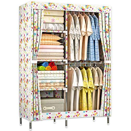 Jian E Armoire en Tissu Armoire Simple Rangement Vêtements Armoire Dortoir Petite Maison Oxford Ensemble en Tissu /