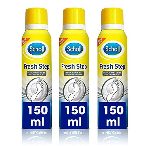 Scholl Desodorante de Pies Fresh Step Antitranspirante - Spray 150ml x 3 Unidades