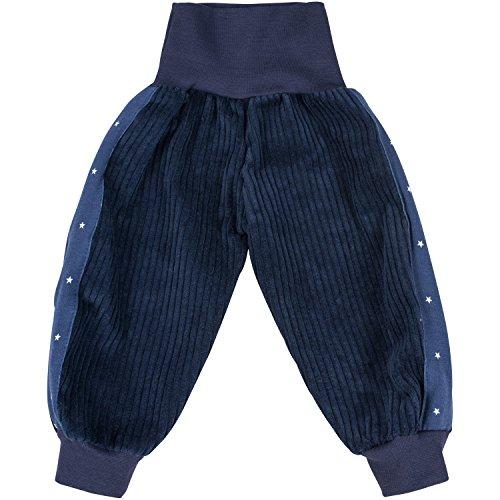 Lilakind chłopięce spodnie sztruksowe pumpy spodnie dziecięce dziecięce gwiazdy niebieskie rozm. 50/56-134/140 – Made in Germany