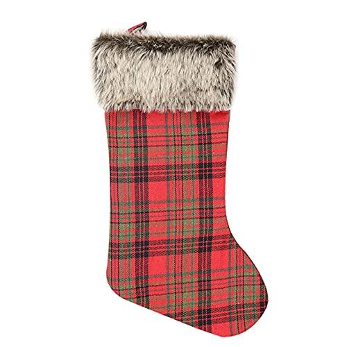 laoonl Medias de Navidad, bolsa de regalo para calcetines de Navidad, bonito patrón para colgar en el árbol de Navidad, adorno para decoración familiar de Navidad