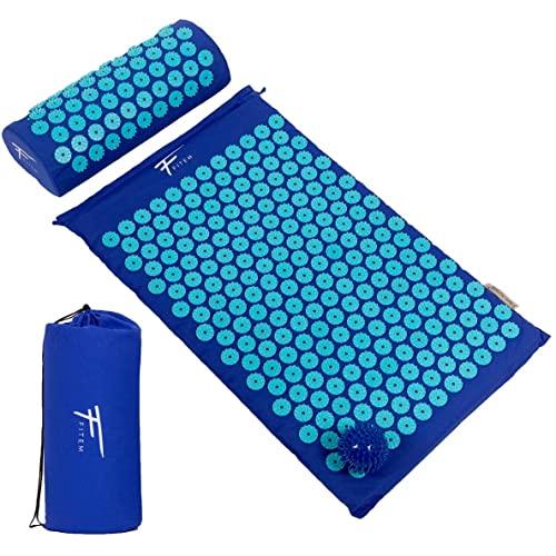 Kit de acupresión Fitem - Esterilla de acupresión + Cojín de acupresión + Bolsa + Bola...