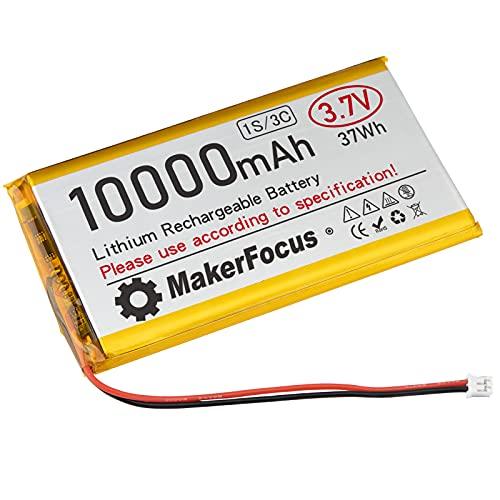 Seamuing 3,7 V Lipo Akku 10000 mAh Lithium Akku mit Schutzplatine, Isolierband und Micro-PH2.0-Stecker für Raspberry Pi UPS Platine und andere