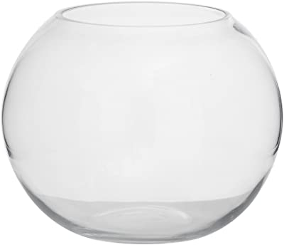 Aufora H0095A Jarrón de cristal para peces, transparente