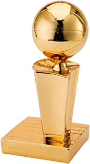 Sculpture Trophies Basketball Trophy Family Creative Ornaments Simulation Athlete Trophy Fans Supplies Handmade, Resin Materials (Color : Gold, Size : 16cm)