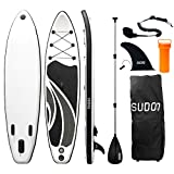 Triclicks Sup Stand Up Paddle Gonflable Board 300x75x15cm (Ép), Pompe Haute Pression, Pagaie/Leash/Sac, Aileron Central Amovible, Kit de Réparation (Style 2)