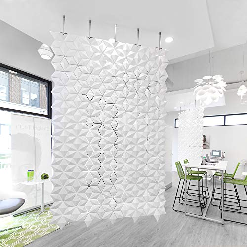Affordable Bloomming Hanging Room Divider Facet - 66.9 x 113.4 (wxh) - White