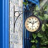 OURLITIME - Reloj de pared de doble cara, diseño retro con péndulo de fijación de...