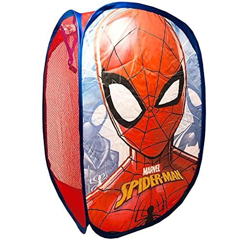 Panier pliant en tissu pour enfants avec poignées Spiderman Marvel Organisateur pour vêtements et...