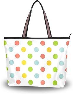 My Daily Damen Handtasche, Schultertasche, Wasserfarben, gepunktet