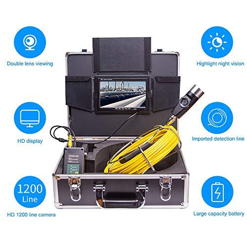 SSeir Doppellinse Pipeline Industrie Endoskop, Inspektionskamera 7In HD Videoaufnahme IP68 Wasserdicht Infrarot Nachtsicht Endoskop Sichtbarer Detektor Für Industrie, Autoreparatur