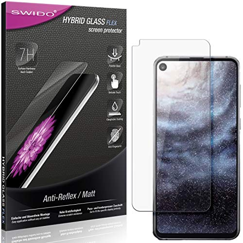 SWIDO Panzerglas Schutzfolie kompatibel mit Samsung Galaxy A8s Bildschirmschutz Folie & Glas = biegsames HYBRIDGLAS, splitterfrei, MATT, Anti-Reflex - entspiegelnd