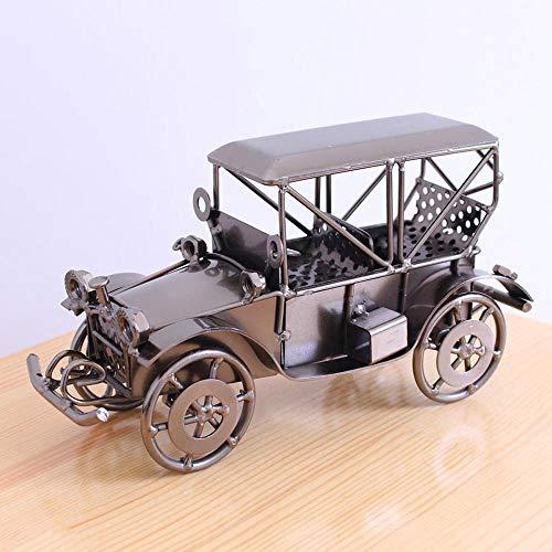ZTFay Creativo Americano Retro Hierro Forjado Modelo de Coche clásico Accesorios para el hogar decoración Coche artesanía de Metal, B