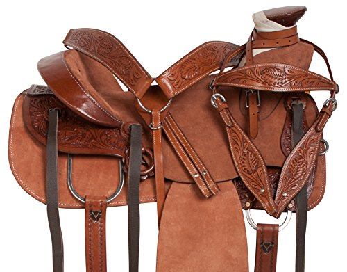 """Acerugs 15"""" 16"""" 17"""" 18"""" Western Leather Tooled RANCHING Pleasure Horse..."""