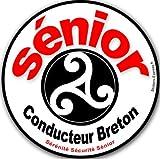 Autocollant (sticker) Autocollant (sticker) Conducteur Sénior Breton Triskel - 15x15 cm