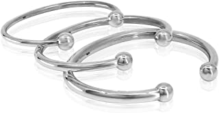 Classic Bangle 925 Sterling Silver Cuff Bracelet for Men Women Children - Size S M L