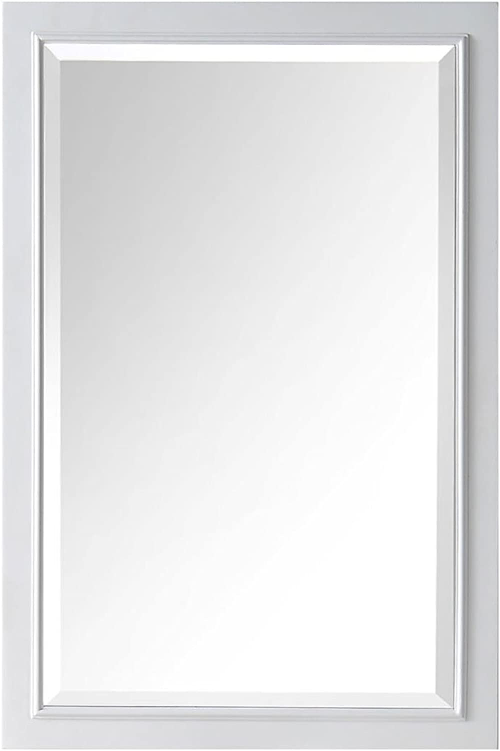 DP HomeTextiles 24 x 36 in Wall Mount Mirror with White Frame (DK-C-6000-WM)