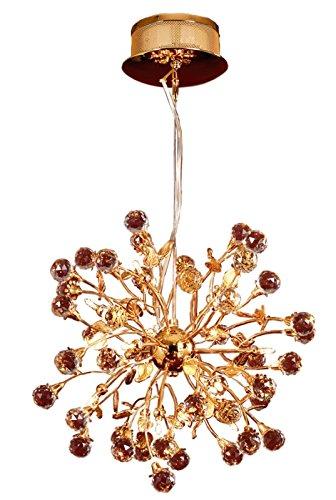 Design by Grönlund 9107/15 Golden Globe kristallen kroonluchter, verguld, G4
