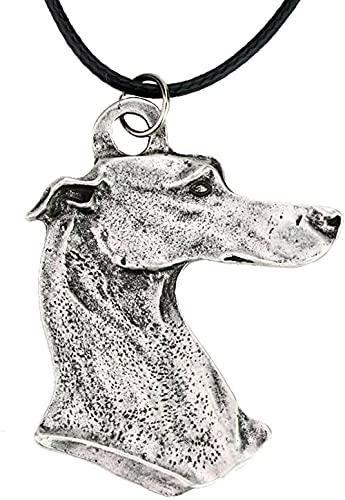 Collar con Colgante de Metal, Collar de Perro, Perro Mascota, Adecuado para Perros de Rescate de Galgos, Collar de Hombres, Popular Lindo