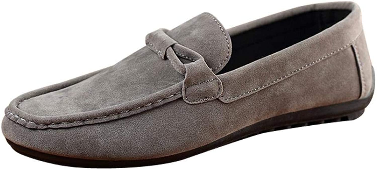 Wallhewb Caopixx Men's Lace-up Boat shoes, Casual Loafer, Fashion Sneaker Dress Flats Boat shoes Joker Skinny Highten Increasing Comfortable Soft Leg Length Handsome bluee US Size 8.5 shoes