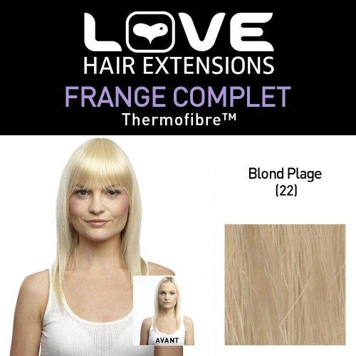 Love Hair Extensions - LHE/FRK1/QFC/CIF/22 - Thermofibre™ - Clip-In Frange Complet - Couleur 22 - Blond Plage