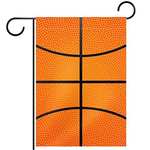 Bandera de jardín, decoración de césped, decoración de patio, decoración de granja al aire libre, banderines de textura de baloncesto de doble cara