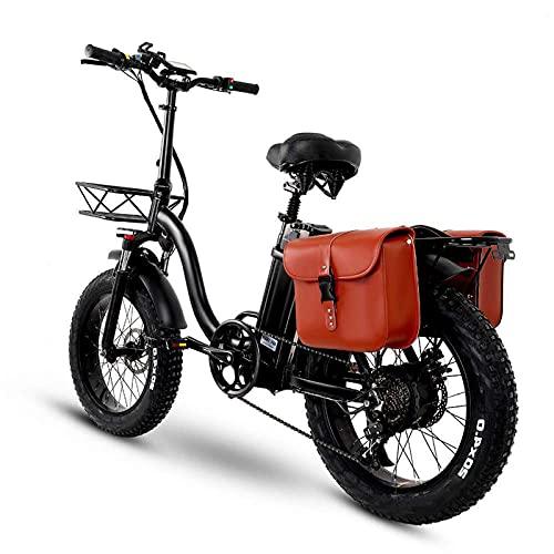 BAHAOMI Bicicleta Eléctrica Bicicleta De Montaña Eléctrica para Adultos Neumáticos De Grasa...