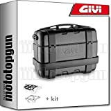 givi portamaletas lateral + maletas lateral trekker trk33b black line compatible con honda xl 650v transalp 2000 00 2001 01