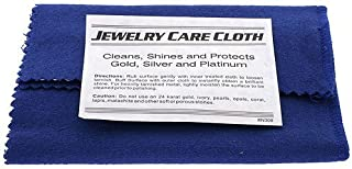 Polishing Cloth for Silver, Gold, Brass & Most Other Metals, Rings, Bracelet, Watches and Jewelry Instant Cleaning and Polishing Restores Shine