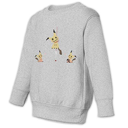 SSNB Kids Toddler Mimikyu (7) Pullover Sweatshirt Boy Girl Crewneck Pullover Tops Gray