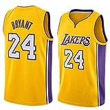 FMSport Jerseys De Baloncesto para Hombre - NBA Lakers # 24 Bryant Uniforme De Baloncesto Camiseta De Chaleco Clásico De Tela Transpirable Fresca,L~175cm/65~75kg