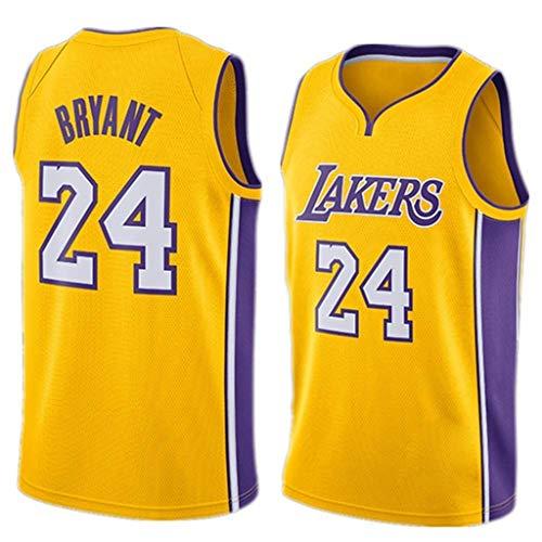 FMSport Jerseys De Baloncesto para Hombre - NBA Lakers # 24 Bryant Uniforme De Baloncesto Camiseta De Chaleco Clásico De Tela Transpirable Fresca,S~165cm/50~65kg
