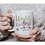 DKISEE Worlds Best Boss, tazza da caffè, regalo Worlds Best Boss, Boss regalo, Best Boss Ever, Girl Boss, Lady Boss, Lady Boss, Best Boss, M37 311,8 ml