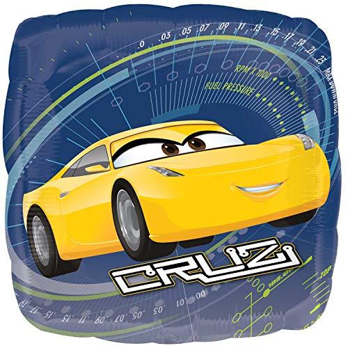 Anagram- Pallone Foil Standard 17''-42 cm Cars Cruz, Multicolore, 7A3536501