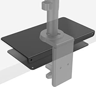 WALI Steel Reinforcement Bracket for Thin, Glass, and Other Fragile Table Tops, Compatible with Most Monitor Mount Stand G...
