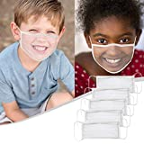 Child Neck Gaiter Clear Window Visible Expression Face Mask kids Balaclavas For The Deaf And Hard Of Hearing
