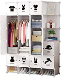 AQWESD Faltbarer Schrank Schublade Schminktisch Schlafzimmer Kunststoff Schminktisch Lagerung...