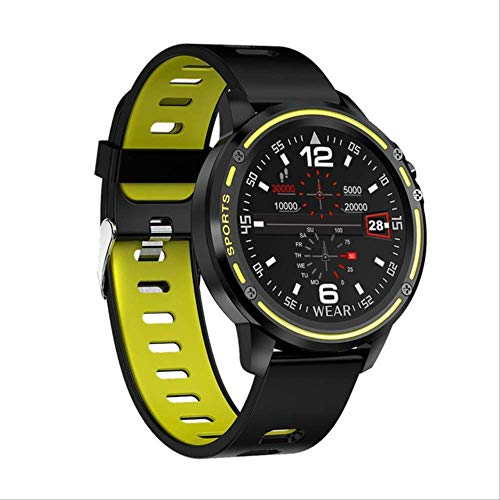 LLDKA Smart Men's Watch IP68 Mode Waterproof Smart Watch Blood Pressure Heart Frequency Fitness Watches Sport,Green