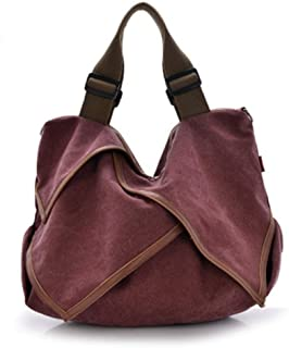 Runhuayou Big Capacity Bag, Shoulder Bag, Distaff Shoulder Bag, Canvas Bag Suitable for Females of All Ages on Any Occasions
