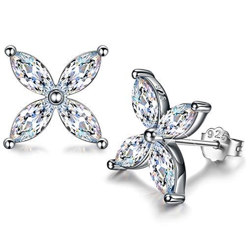 DISSONA Silber Ohrringe Damen 925, Liebesbekenntnisse, Zirkonia von Österreich, Geschenke für Sie, Geschenkbox